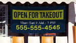 Open For Takeout Banners