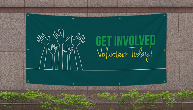 Volunteer Today Banners